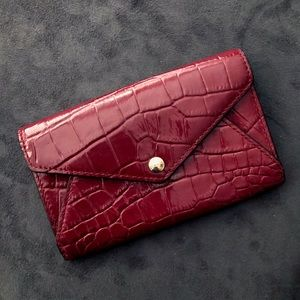 🍷 Coach Wine Reptile Wallet NWT
